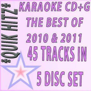 KARAOKE 5 CD+G POP QUIK HITZ BEST OF 2010+2011 W/BRUNO MARS,RIHANNA