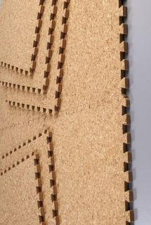 Cork material natural soft wood Mat Set Puzzle Tile Play Carpet