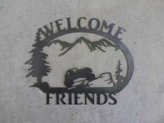Custom Metal Rock Crawler Welcome Sign Jeep Buggy Home Cabin