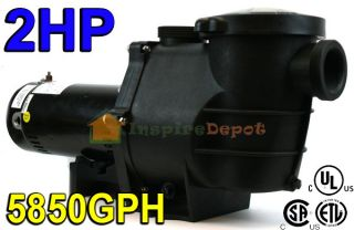2HP 5850GPH Inground Swimming Pool Pump w/ Strainer UL LISTED