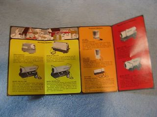 newly listed reddy heater brochure vintage  2