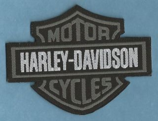 harley davidson grey woven sew iron on patch from united