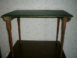 ANTIQUE UDELL WORKS FOLDING SOLID OAK CHILDS TOY COUNTRY FARM TABLE