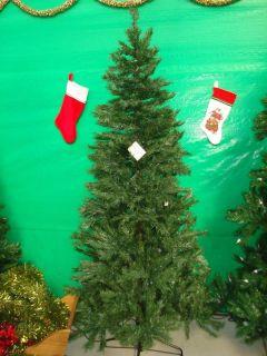 artificial pre lit christmas tree nib 7 slim line noble