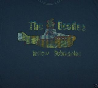 The Beatles NEW Yellow Submarine Overdye T Shirt Medium $12.00 SALE
