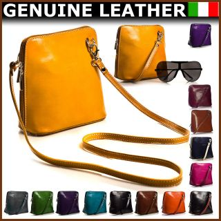 New Vera Pelle Mini Little Genuine Italian Leather Shoulder Cross Body