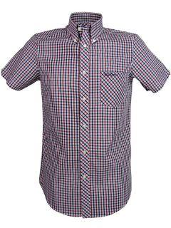 ben sherman shirt house check short sleeve mod fit