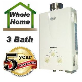 Tankless Water Heater 3.1 GPM Propane Gas Instant hot water On Demand