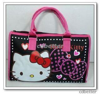New Lovely Canvas Blue Hello Kitty Travel Handbag Tot Shoulder