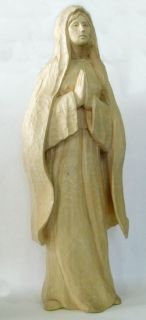 Wood carving Original by IVAN WHILLOCK Powerful Madonna statue