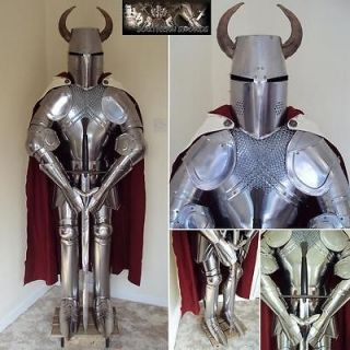 The Horned Knight Suit Of Armour & Sword Hand Crafted In The UK
