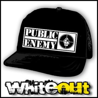 PUBLIC ENEMY TARGET HIP HOP RAP CHUCK D BLACK TRUCKERS CAP MESH
