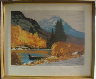 VINTAGE ORIGINAL 1970 SERIGRAPH AMERICA EXPRESS SIGNED ROBERT WOOD