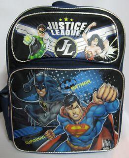 Warner Bros JUSTICE LEAGUE Batman Superman 16 Large School Backpack
