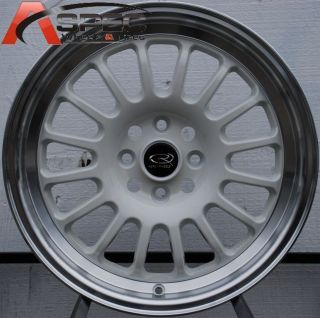 15X7 ROTA TRACK R2 4X100 +40 ROYAL WHITE WHEEL FITS CIVIC YARIS MIATA