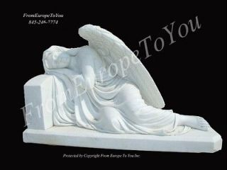 hand carved marble sleeping angel weeping statue gs25 time left