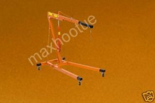 ton engine motor hoist cherry picker shop crane lift