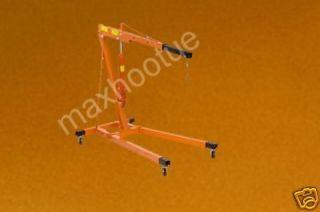 ton engine motor hoist cherry picker shop crane lift
