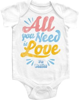 NEW Boy Girl Infant Baby Size Beatles Love One Piece Snapsuit Jumper T