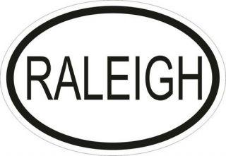 RALEIGH CITY CODE OVAL VINYL STICKER bumper decal International car