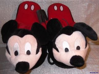 disney mickey mouse character men s plush slippers more options
