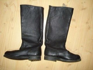 Soviet Russian Military General High Leather Boots S 43 Army Shoes