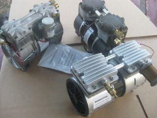 continuous duty rated Thomas,Gast,Robertson model HIGH VACUUM pumps