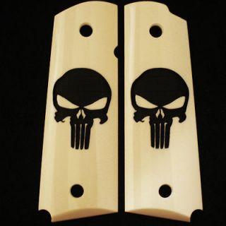 Colt Taurus Fullsize Government 1911 Smooth Punisher Grips Ivory