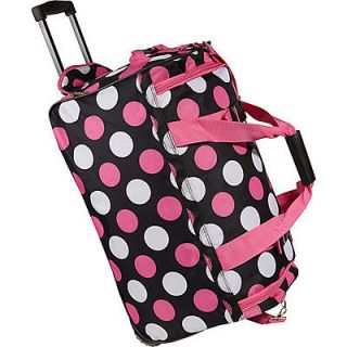 rockland luggage 22 rolling duffle bag multi pink expedited shipping