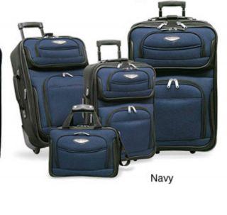 Travelers Choice Amsterdam 8 piece Luggage Set   Navy