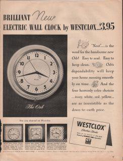 1950 VINTAGE WESTCLOX MADE BY BIG BEN CLOCK LONG REMEMBERED GIFT PRINT