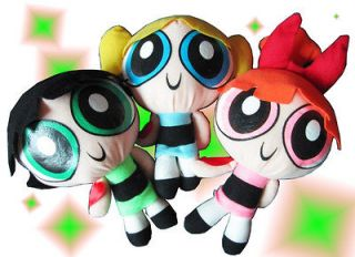 1999 Cartoon Network Powerpuff Girls Plush Toy Soft 9 Doll Baby Gift
