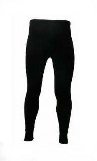 mens wool bld thermal long johns pants sz l 100 black