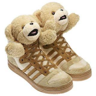 adidas jeremy scott teddy bear js shoes brown rare new