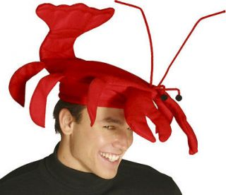 FUNNY RED LOBSTER HAT CAP SEAFOOD SEA MARINE ANIMAL COSTUME HAT 1566