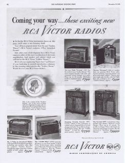 1945 vintage ad rca victor radios 12 22 time left