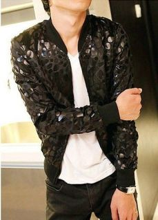 leopard print jacket men in Clothing,