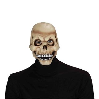 Adult Scary Skull Skeleton with Moving Jaw Horror Mask Costume