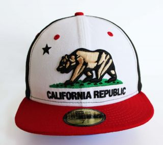 New Era 5950   California Republic Black/White/Red   Official Fitted