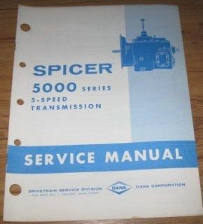 spicer 5000 series 5 speed transmission service manual time left