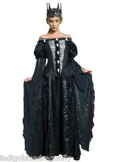 Queen Ravenna Skull Dress w/Crown Costume Snow White & The Huntsman Sm