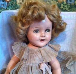 18 Ideal Shirley Temple Doll w/ Original Dress, Underwear, Shoes