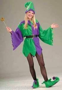 jester adult tunic purple mardi gras elf costume unisex men women