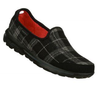 SKECHERS SHOES 13513 SPARKY GO WALK WOMEN BLACK SPORT SLIP ON SOFT