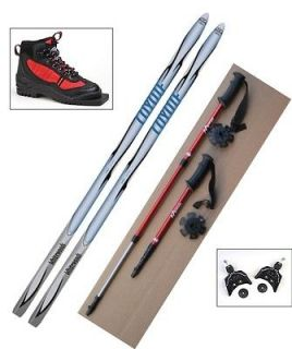 75mm Cross Country SKIS/BINDINGS/BOOTS/POLES   140cm  No Wax  WoodCore
