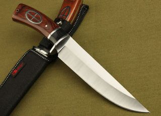 Combia Wood Handle Tactics Fixed Bowie Hunting Knife 5FK163