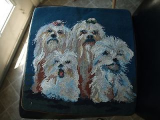 shih tzu dog family needlepoint pillow cover 16 time left