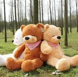 HOT39.5 Giant Big plush Sleepy Light Brown teddy bear100CM free