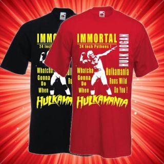 hulk hogan wrestling t shirt wwe tna more options size