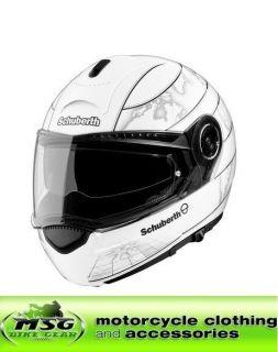 schuberth c3 motorcycle helmet gloss white world xxl from united